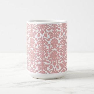 Vintage Ornate Floral Rosy Damask Mug