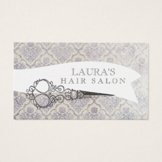 Vintage Ornate Scissors Hair Salon Business Cards