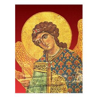 Vintage orthodox ikon Angel Gabriel Postcard
