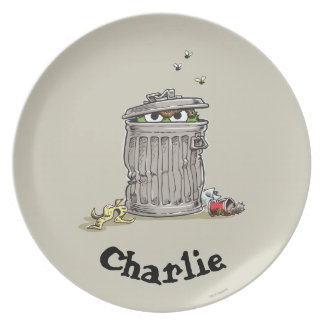 Vintage Oscar in Trash Can | Add Your Name Plate