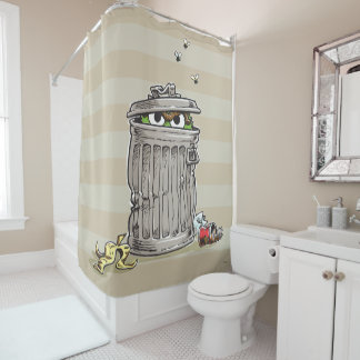 Vintage Oscar in Trash Can Shower Curtain