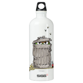 Vintage Oscar in Trash Can Water Bottle