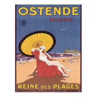 Vintage Ostende Belgique Postcard