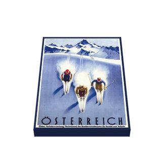 Vintage Österreich Ski Canvas Print