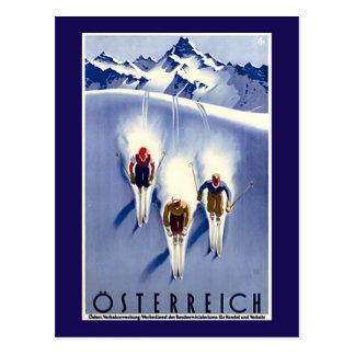 Vintage Österreich Ski Postcard