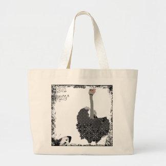 Vintage Ostrich Art Bag