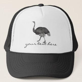 Vintage Ostrich Trucker Hat
