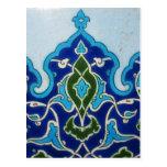 Vintage Ottoman era Iznik tile design Post Cards
