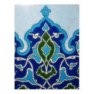 Vintage Ottoman era Iznik tile design Postcard
