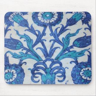 Vintage Ottoman Tile FLORAL DESIGN Mousepads