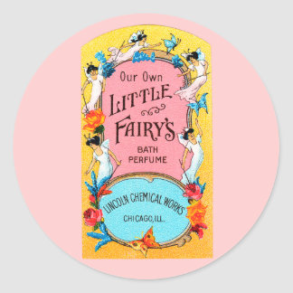 Vintage Our Own Little Fairy's Bath Perfume Classic Round Sticker