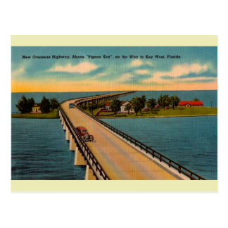 Vintage Overseas Highway Florida Keys Postcard
