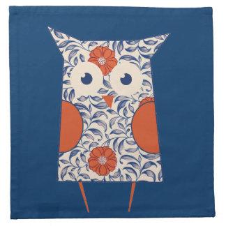 Vintage Owl Art Napkin