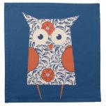 Vintage Owl Art Printed Napkin