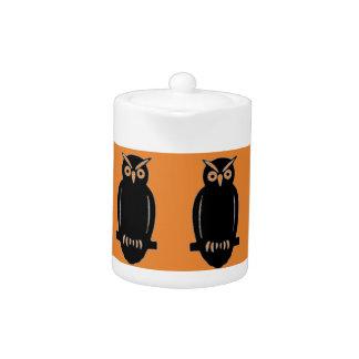 Vintage Owl Autumn Teapot