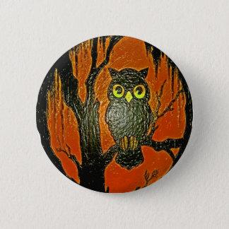 Vintage Owl cartoon Art 6 Cm Round Badge