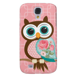 Vintage Owl Galaxy S4 Case