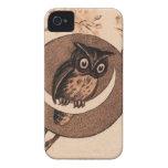 Vintage Owl in Moon