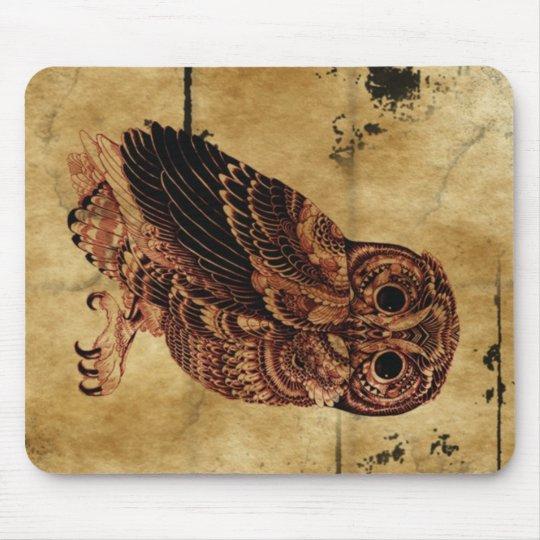 Vintage Owl Mouse Mat