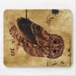 Vintage Owl Mousepad
