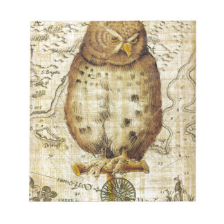 Vintage owl notepad