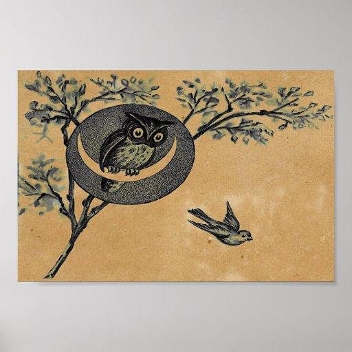 Vintage Owl Poster