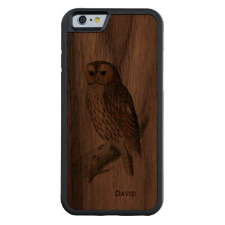Vintage Owl Wooden iPhone 6 Case Walnut iPhone 6 Bumper Case