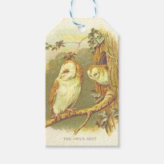 Vintage Owl's Nest gift tag