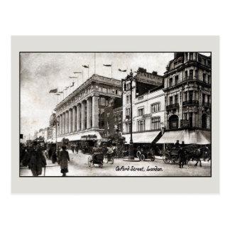 Vintage Oxford street London England Postcard