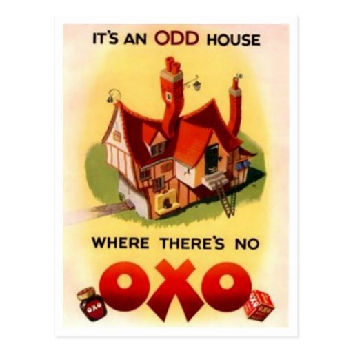 Vintage OXO Ad - It's And Odd House Where There's  Post Card