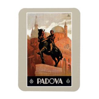 Vintage Padua Padova Italian travel Rectangular Photo Magnet