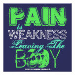 """Vintage """"PAIN IS WEAKNESS"""" Workout Soldier POSTER"""