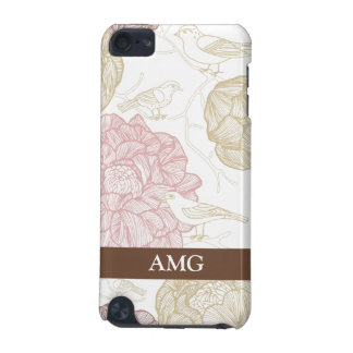 Vintage Painted Flowers and Birds iPod Touch (5th Generation) Covers
