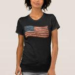 Vintage Painted Look American Flag T Shirts