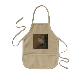 Vintage Painting Of A Bird With Flowers Kids Apron