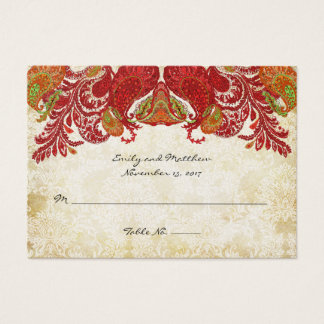 Vintage Paisley Damask Table Place Cards