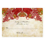 Vintage Paisley Damask Table Place Cards Pack Of Chubby Business Cards