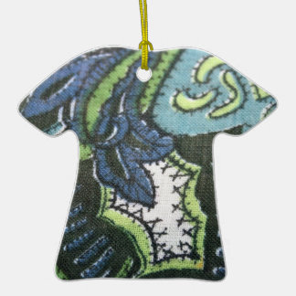 Vintage Paisley Design Fabric Ornament
