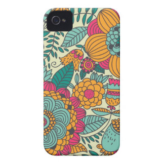 Vintage Paisley Flowers iPhone 4 Cover
