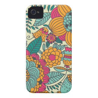 Vintage Paisley Flowers Case-Mate iPhone 4 Case