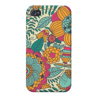 Vintage Paisley Flowers Cover For iPhone 4