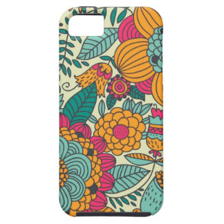 Vintage Paisley Flowers Tough iPhone 5 Case