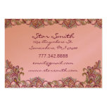 Vintage Paisley Pink and  Raspberry Business Cards