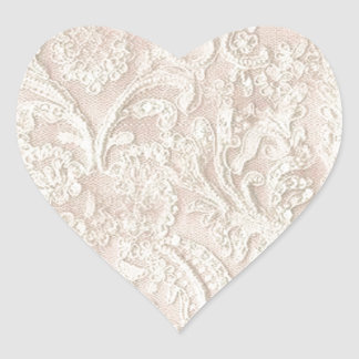 Vintage Pale Pink Lace Heart Sticker