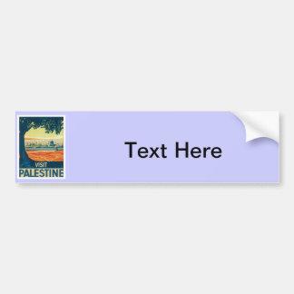 Vintage Palestine Middle East Bumper Sticker
