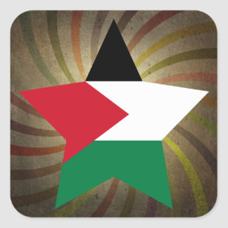 Vintage Palestinian Flag Swirl Square Sticker