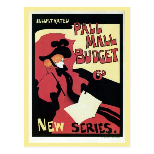 Vintage Pall Mall budget magazine ad Postcard