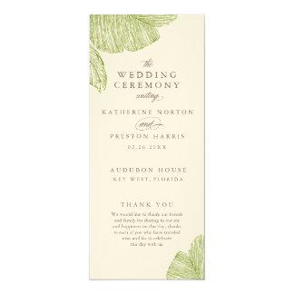 Vintage Palm Destination Wedding Programs 10 Cm X 24 Cm Invitation Card