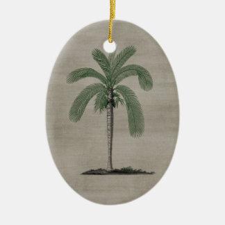 Vintage Palm Tree Christmas Ornament