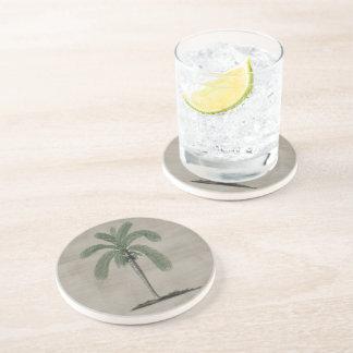 Vintage Palm Tree Drink Coaster